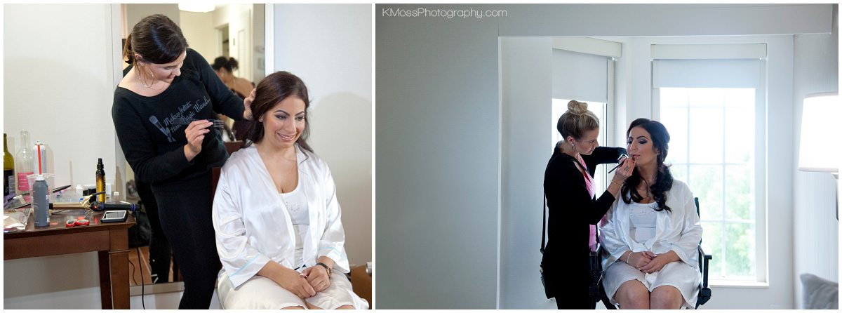 Bride getting ready Lehigh Valley Wedding Photographer-Bethlehem PA Wedding Photos | K. Moss Photography