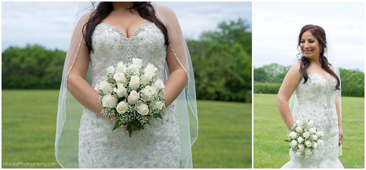 White Rose Wedding Bouquet-Outdoor Lehigh Valley Wedding | K. Moss Photography