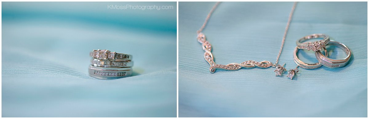 Wedding rings and necklace | K. Moss Photography