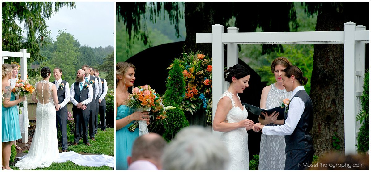 The Barn at Flying Hills Same Sex Wedding Ceremony | K. Moss Photography